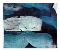 Deep Blue #3 Fleece Blanket