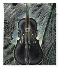 Deep Cello Fleece Blanket