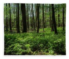 Deep Forest Fleece Blanket