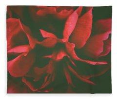 Deep Red Fleece Blanket