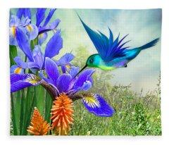 Deeply Blue Fleece Blanket