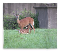 Deer Nursing Fleece Blanket