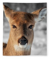 Deer Portrait Fleece Blanket