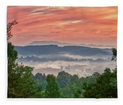 Deer Valley Sunrise Fleece Blanket