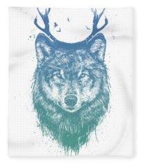 Deer Wolf Fleece Blanket