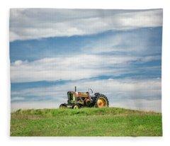 Deere On The Hill Fleece Blanket