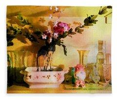Delicate Flowers Fleece Blanket