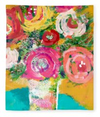 Delightful Bouquet 4- Art By Linda Woods Fleece Blanket