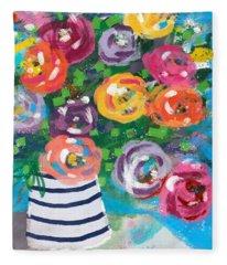 Delightful Bouquet 6- Art By Linda Woods Fleece Blanket