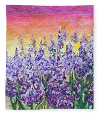 Delphiniums Fleece Blanket