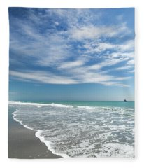 Delray Beach Florida Fleece Blanket