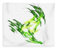 Deluxe Throwing Star Green Fleece Blanket