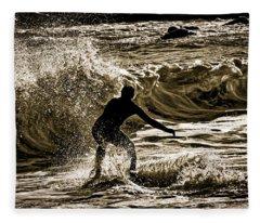 Demons In The Surf Fleece Blanket