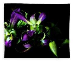 Dendrobium Branch Fleece Blanket