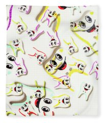 Dental Clinic Caricatures Fleece Blanket