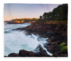 Fleece Blanket featuring the photograph Depoe Bay Sunrise by Whitney Goodey