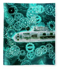 Depth Charged Fleece Blanket
