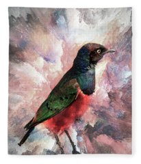 Desaturated Starling Fleece Blanket