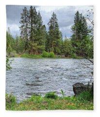 Deschutes River Fleece Blanket
