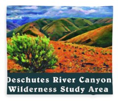 Deschutes River Canyon 1 Fleece Blanket