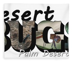 Desert Bugs Big Letter Fleece Blanket