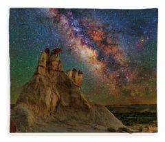Desert Castle Fleece Blanket