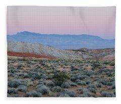 Desert On Fire No.2 Fleece Blanket