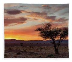 Desert Sunset II Fleece Blanket