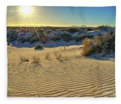 Desert Sunset Fleece Blanket