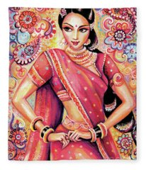 Devika Dance Fleece Blanket
