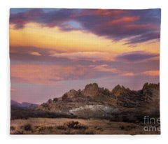 Devil's Backbone Sunrise Fleece Blanket