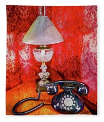 Dial Up Telephone Fleece Blanket