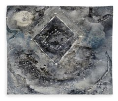 Fleece Blanket featuring the painting Diamond Apparition  by 'REA' Gallery