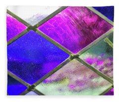 Diamond Pane Glass Fleece Blanket