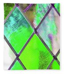 Diamond Pane Green Fleece Blanket