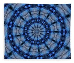Blue Jay Mandala Fleece Blanket