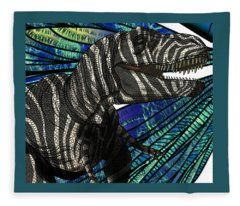 Dinosaur Tyrannosaurus Head Fleece Blanket