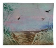 Dirt Road Through A Valley Fleece Blanket