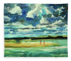 Disappearing Island Afternoon 2018 Fleece Blanket