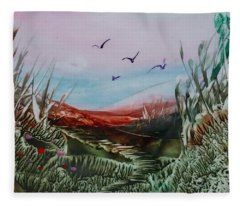 Disappearing Pathway Fleece Blanket