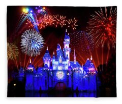 Disneyland 60th Anniversary Fireworks Fleece Blanket