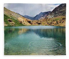 Fleece Blanket featuring the photograph Distant Rains by Whitney Goodey