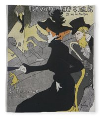 Divan Japonais, 1892, Concert Poster Fleece Blanket