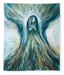 Divine Mother Tree Of Wisdom Fleece Blanket