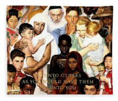 Norman Rockwell Fleece Blankets
