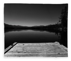 Dock At Dusk Fleece Blanket