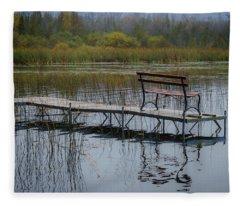 Dock By The Bay Fleece Blanket