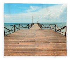 Dock To Infinity Fleece Blanket