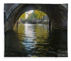 Dof On An Amsterdam Canal Fleece Blanket