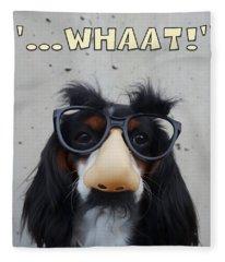 Dog Gone Funny Fleece Blanket